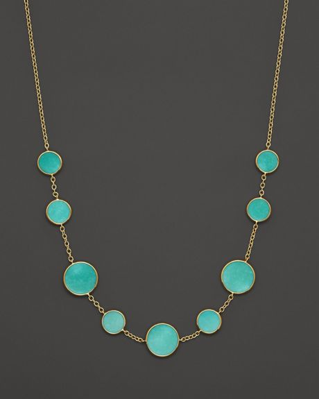 Ippolita 18k gold polished rock candy turquoise circle for What is gold polished jewelry