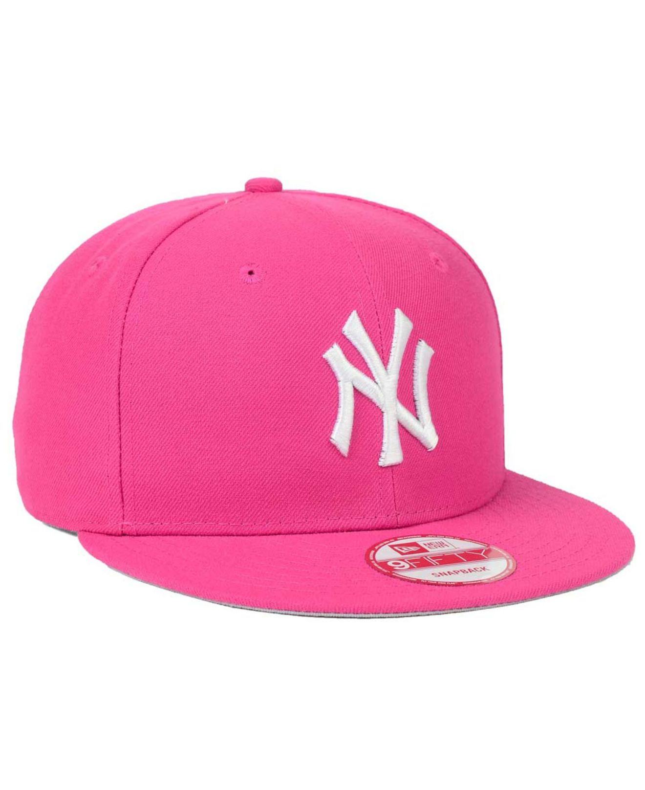 28fd59b86 ... hat d7415 where can i buy lyst ktz new york yankees c dub 9fifty  snapback cap in pink ...