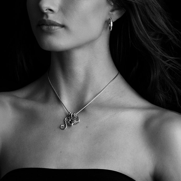 Lyst david yurman cable collectibles initial charm with diamonds gallery womens initial necklaces aloadofball Choice Image