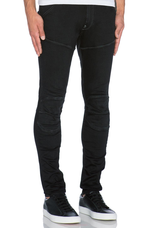 4d0219c7 G-Star RAW 5620 3D Super Slim Slander Black Denim in Black for Men ...