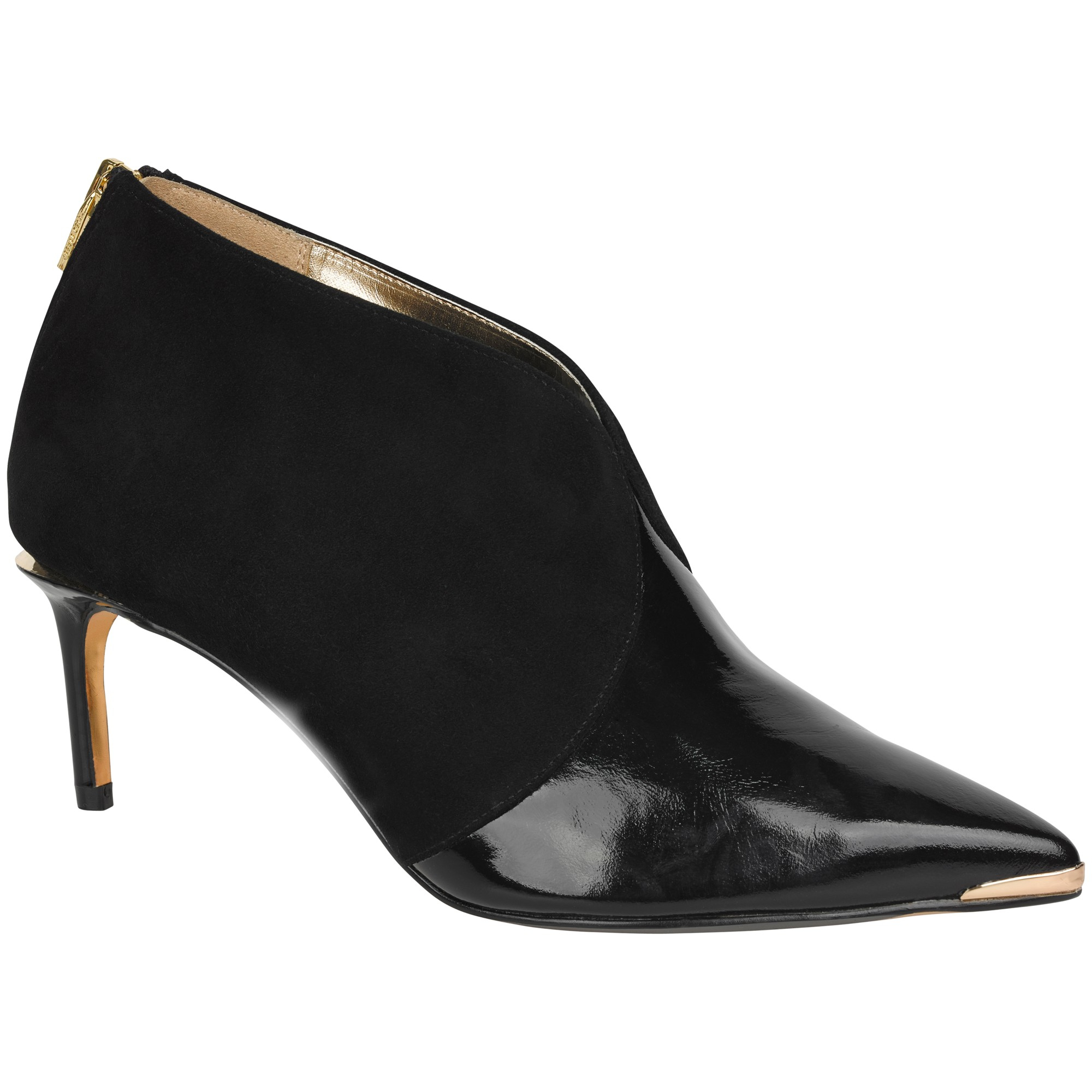 c8ab6d5552edc Ted Baker Hainns Suede Pointed Ankle Boots in Black - Lyst