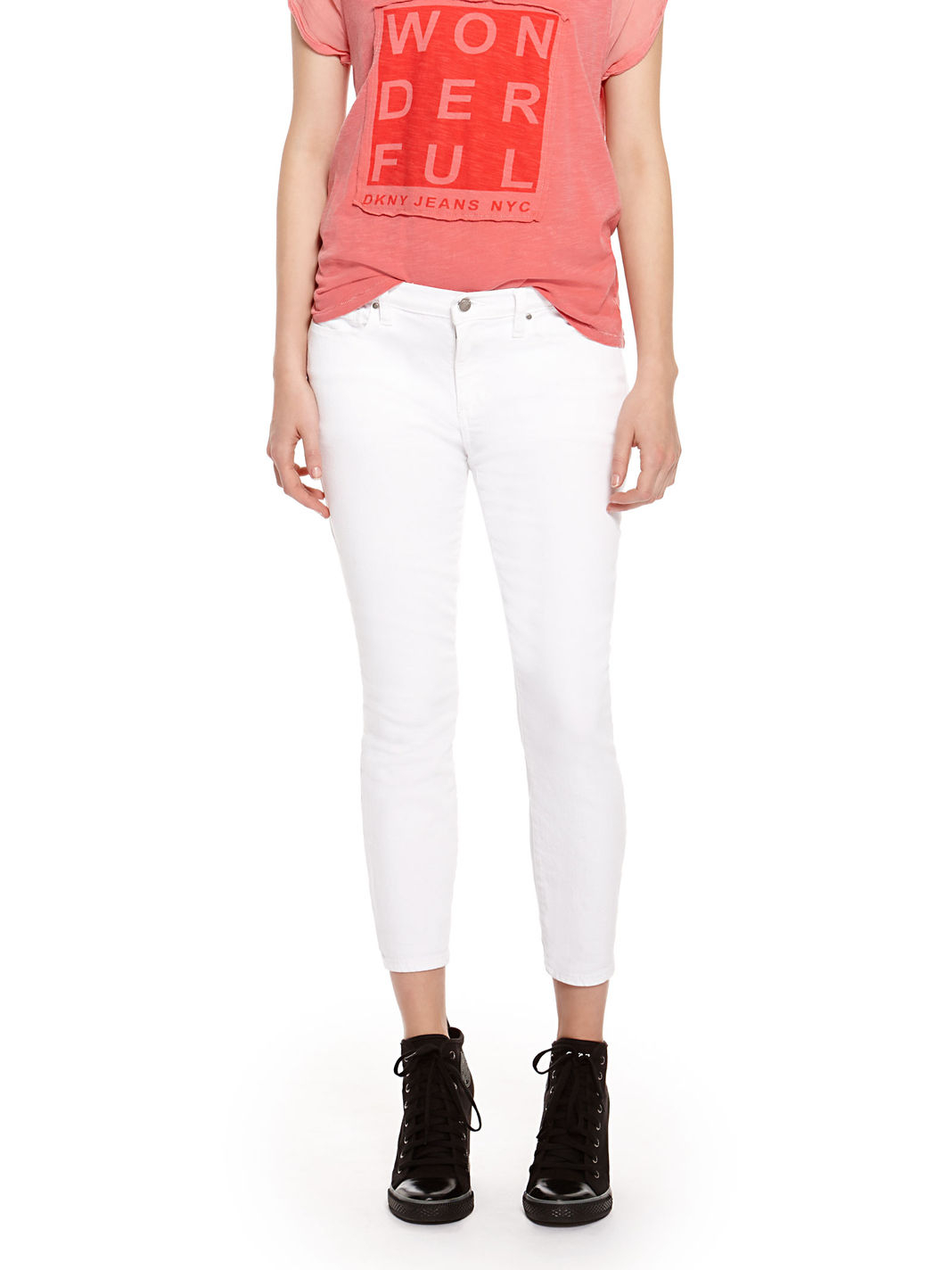 Dkny White Jeans - Jeans Am