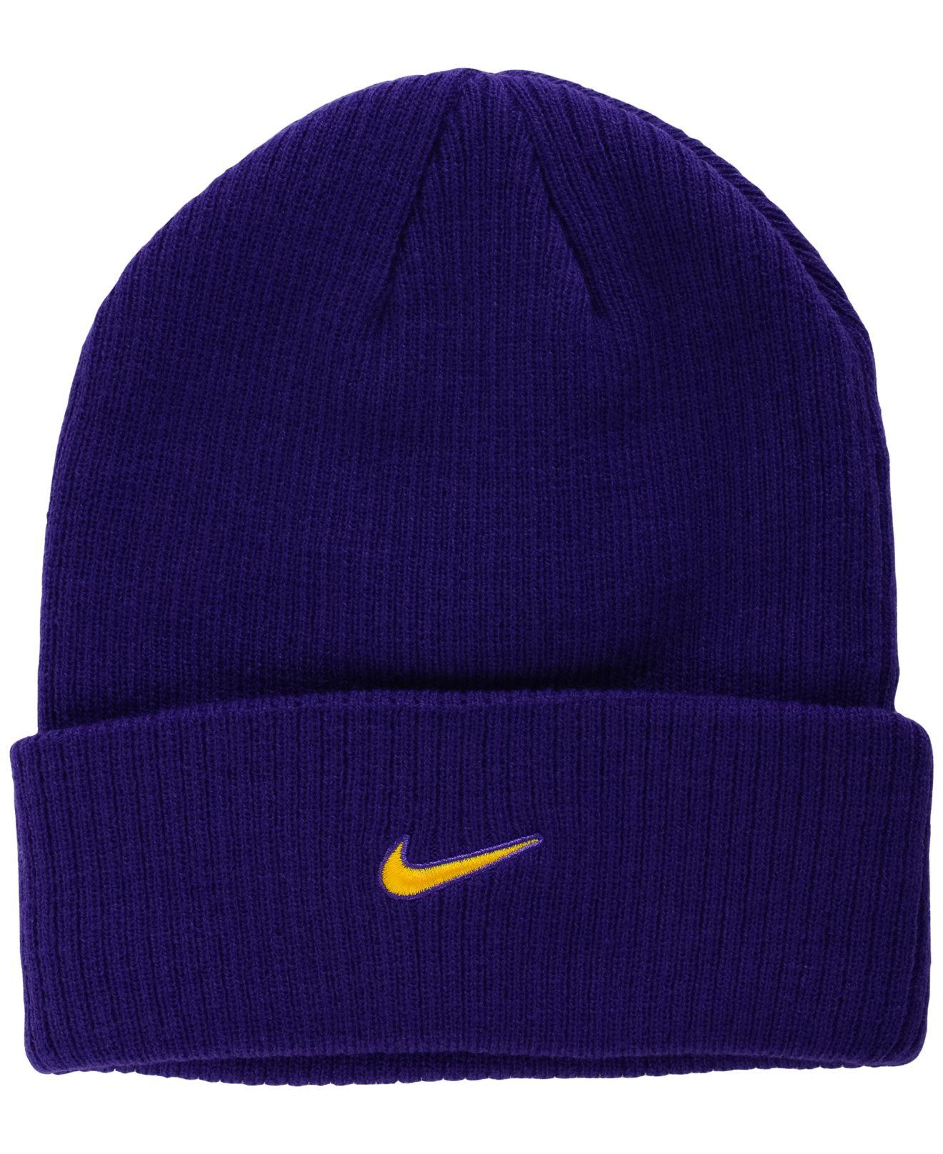 timeless design bcfeb ae25c Lyst - Nike Lsu Tigers Flash Knit Hat in Purple for Men