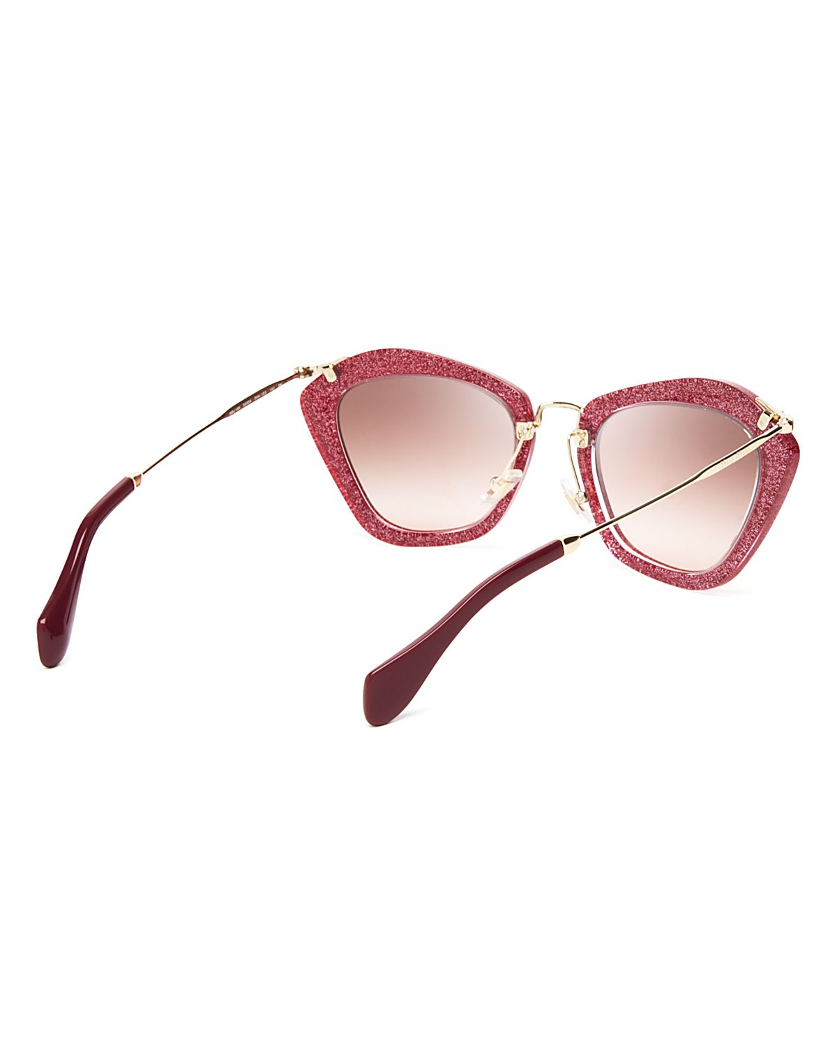bdc702df76cf0 Miu Miu Red Cat Eye Sunglasses