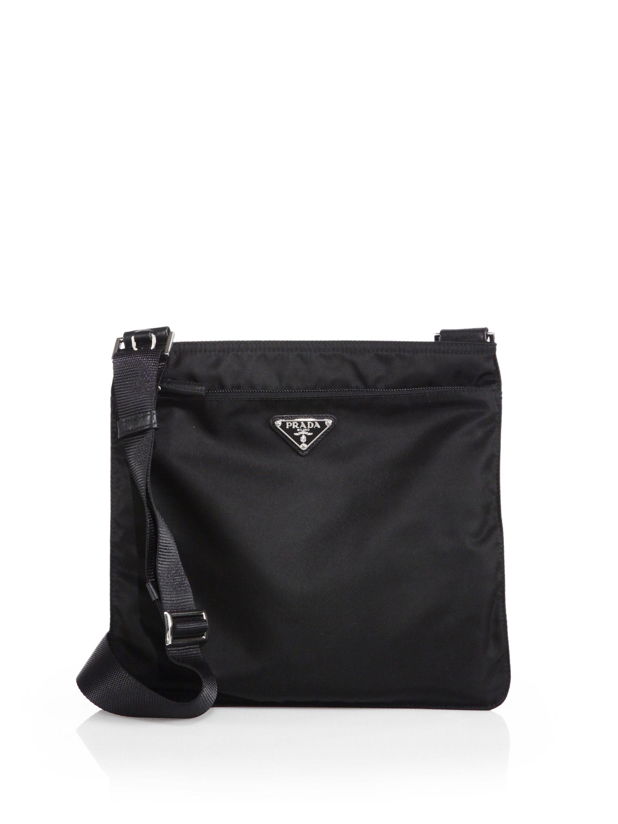 prada man bag sale - Prada Vela Crossbody Bag in Black (NERO-BLACK) | Lyst