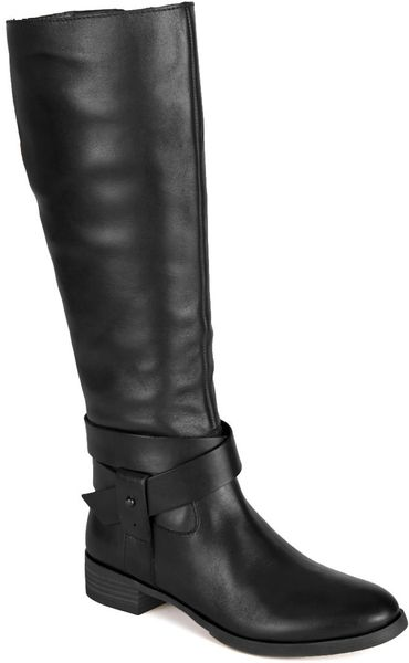 nine west vecelia classic leather boots in black lyst