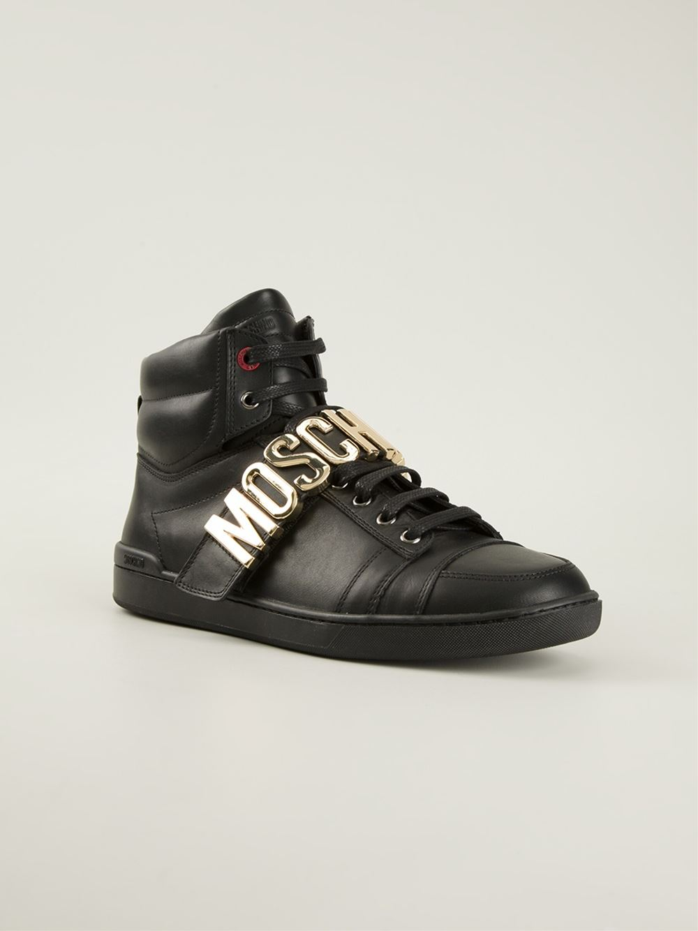 Lyst Moschino Hitop Sneakers In Black For Men