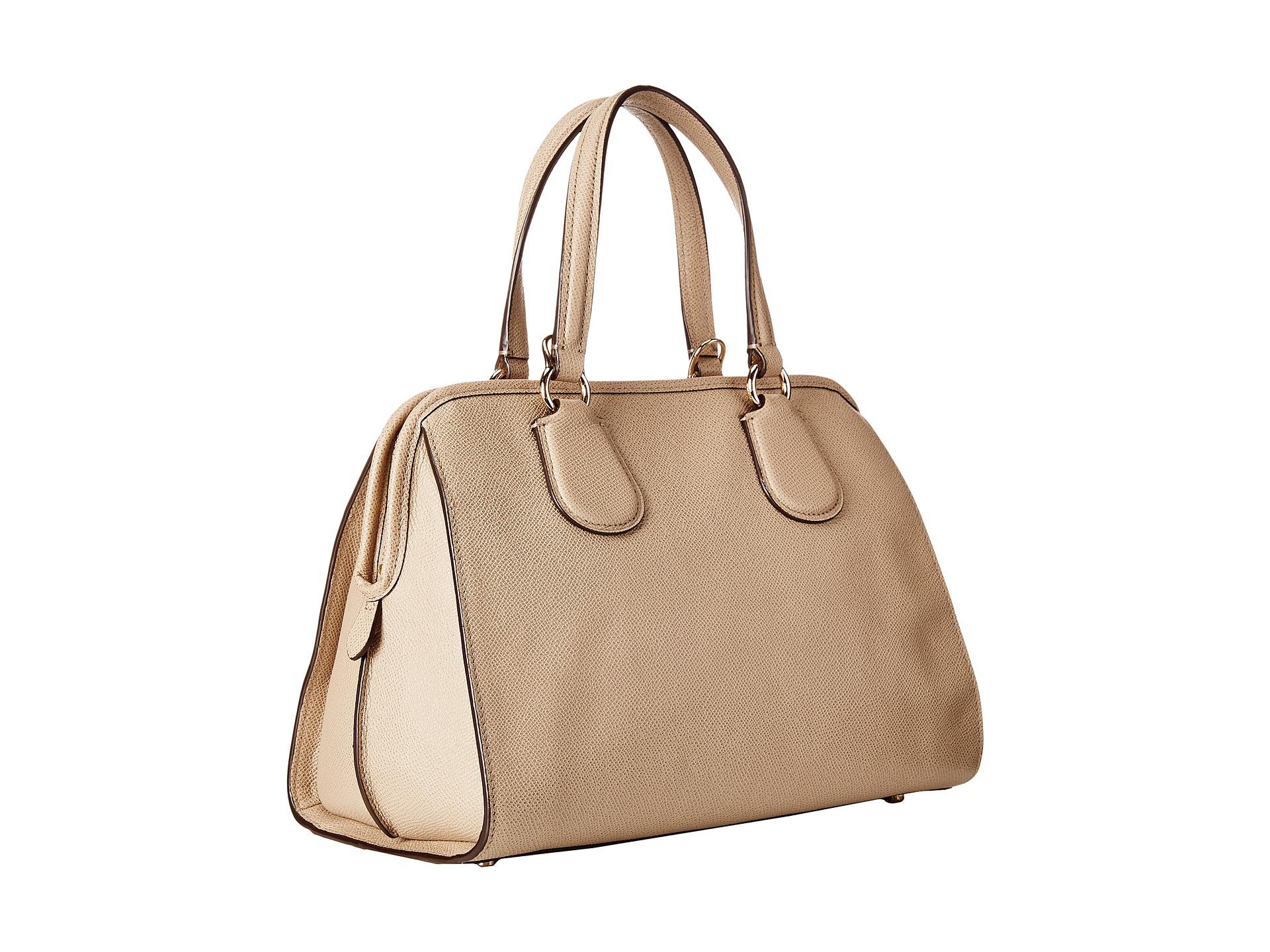 ffe128e0eb ... buy lyst coach crossgrain leather nolita satchel in natural f9847 213ff