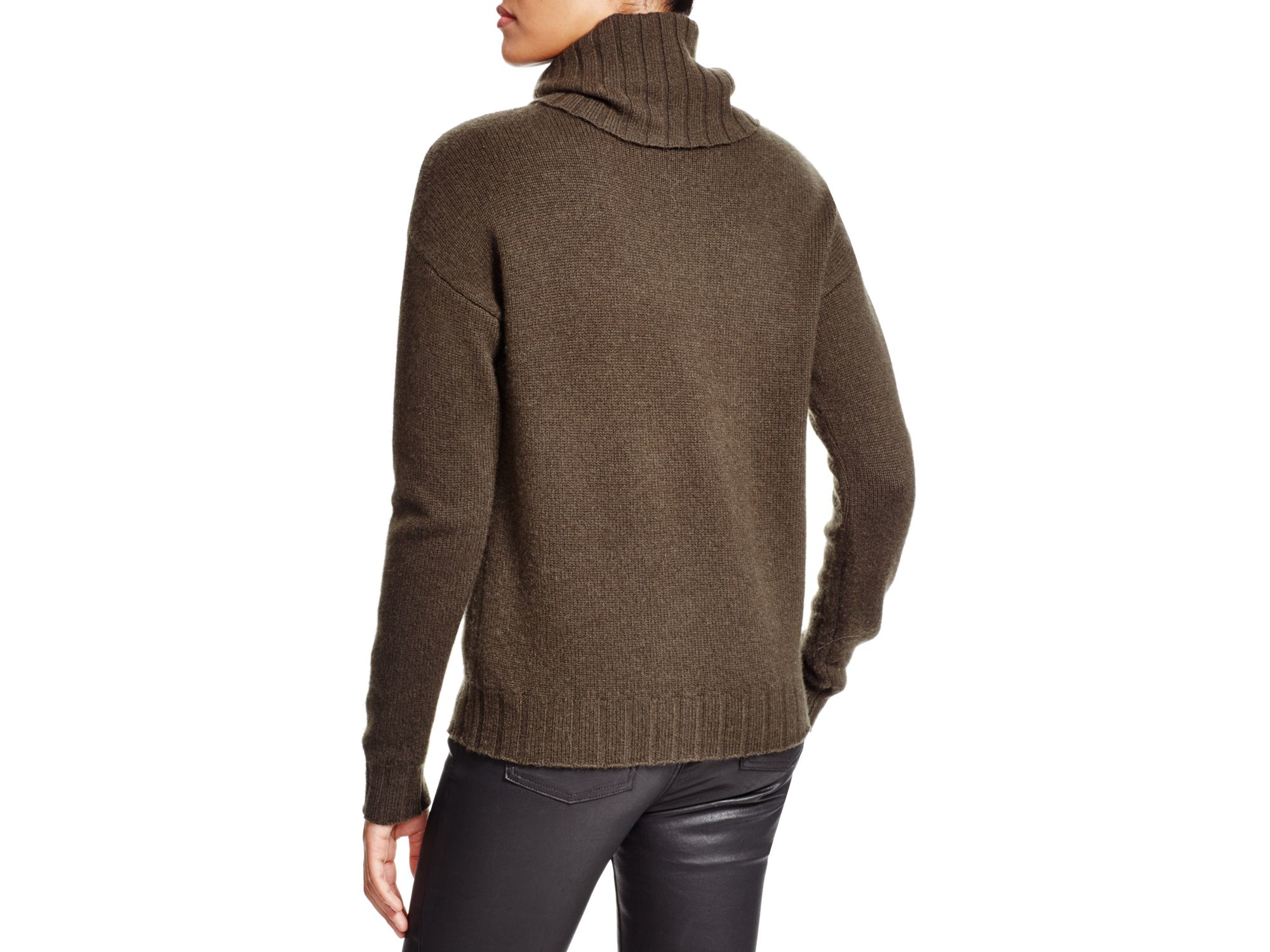 Theory Lanola Cashmere Turtleneck Sweater in Green | Lyst