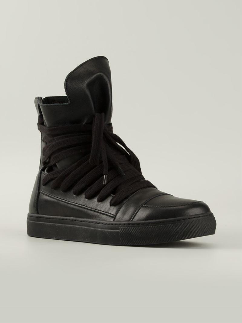 Lyst - Kris Van Assche Multi-Lace High-Top Sneakers in Black for Men 4f51988fb