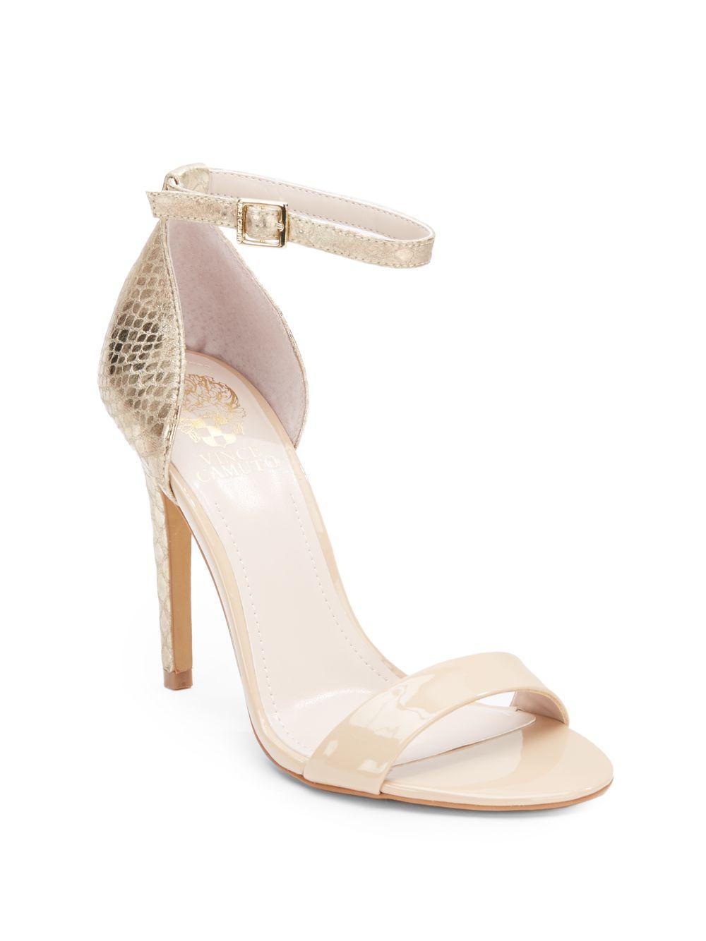 e09735f2008 Lyst - Vince Camuto Allison High-Heel Sandals in Metallic