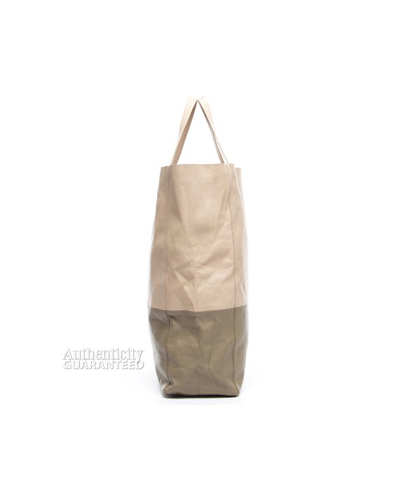 Celine Pre-owned Pink And Khaki Bicabas Tote Bag in Pink   Lyst 8c1e330849