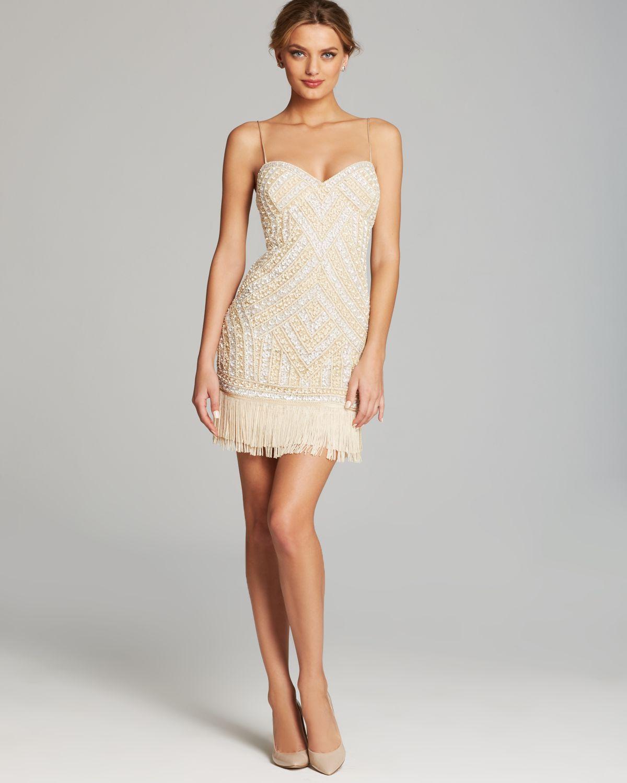 Aidan Mattox Sequin Sheath Dress