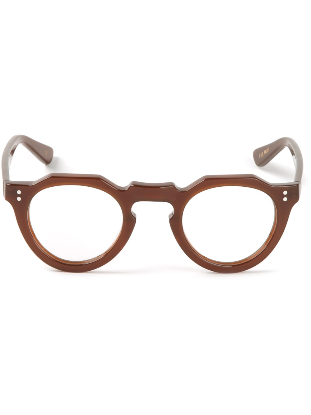 6e7c2d1e6d Lyst - Lesca Round Glasses in Brown for Men