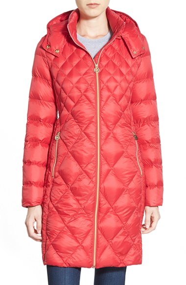 Lyst Michael Michael Kors Packable Diamond Quilted Down