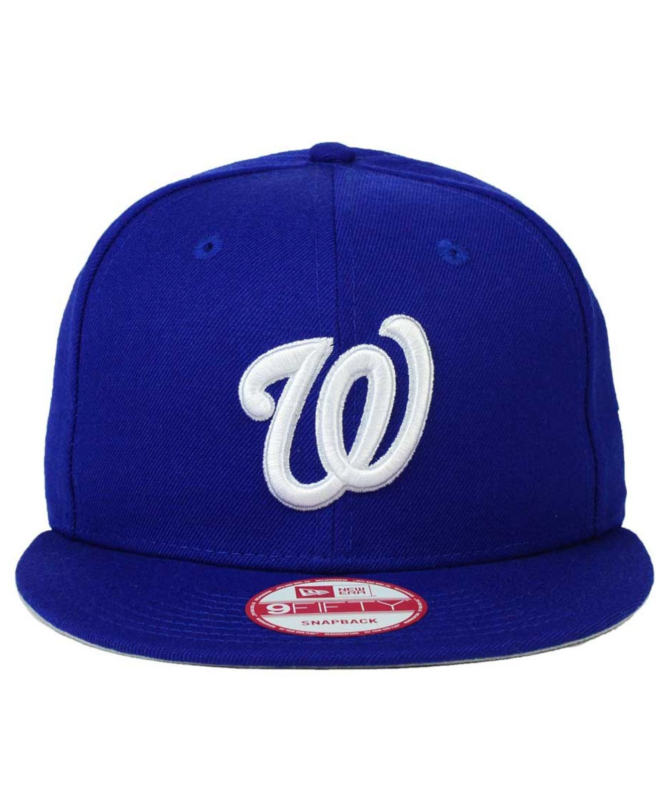 new product 22a5b 0fcbc Lyst - KTZ Washington Nationals C-dub 9fifty Snapback Cap in Blue ...