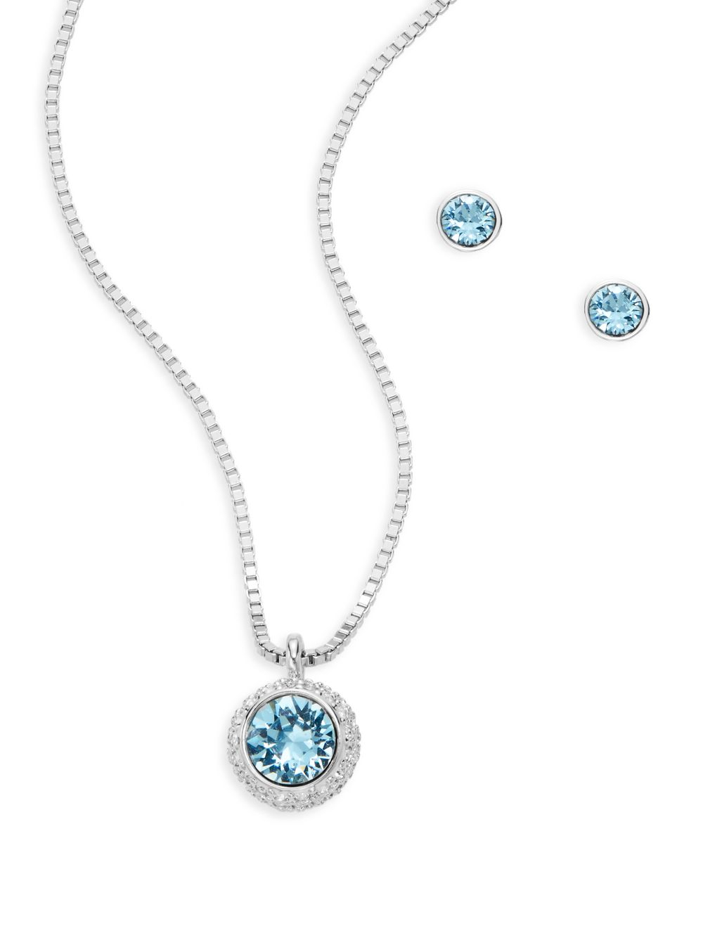 Swarovski Blue Necklace And Earrings - Necklace Wallpaper ... c81800ca3f