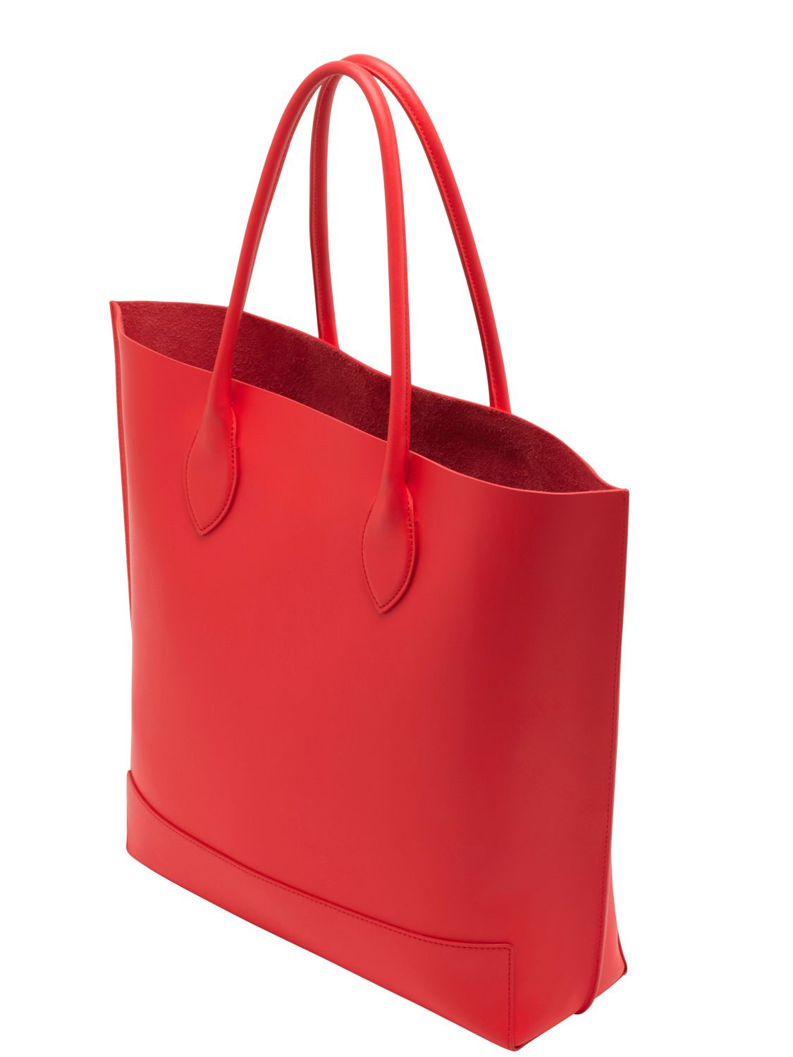 77a3df263b authentic lyst mulberry blossom nappa leather tote bag in red 3c253 058b5
