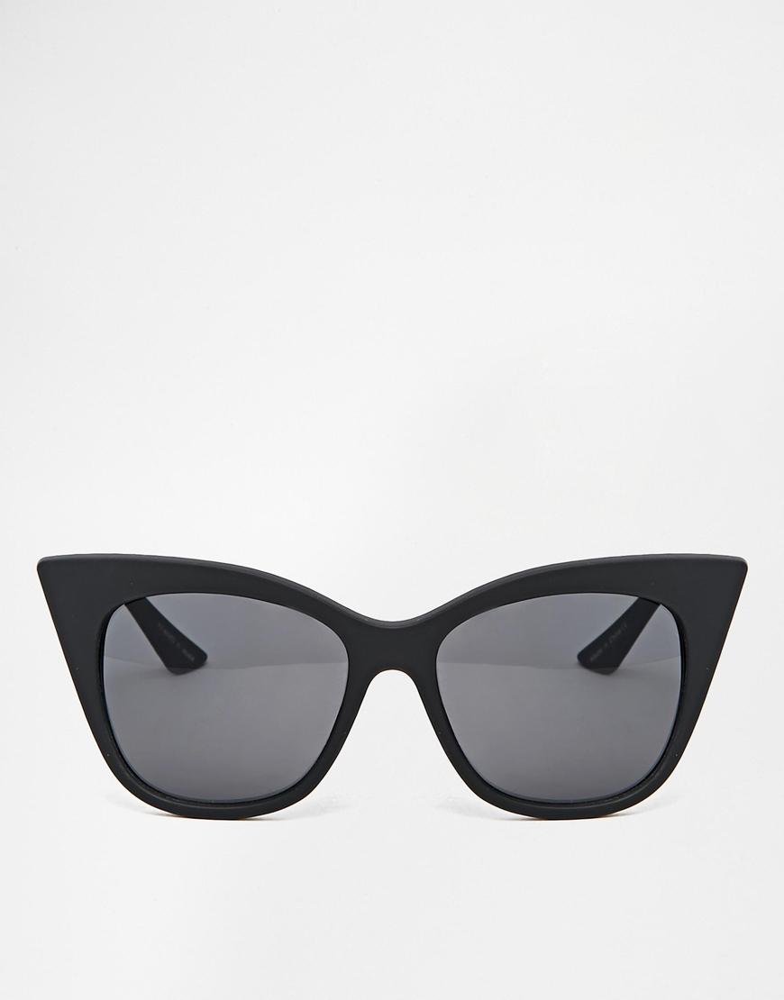 2129ec9a3d Lyst - Quay Modern Love Cat Eye Sunglasses in Black