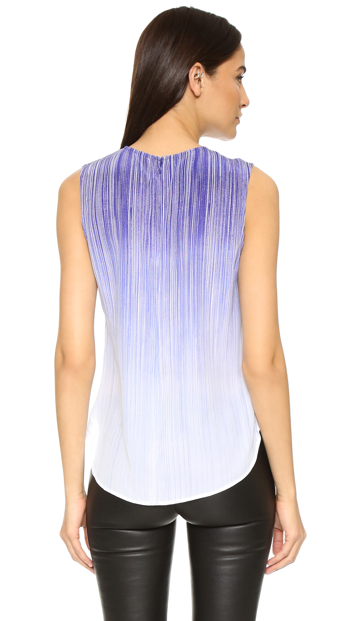 74cdd1854aa7cd Lyst - Equipment Lyle Top in Blue
