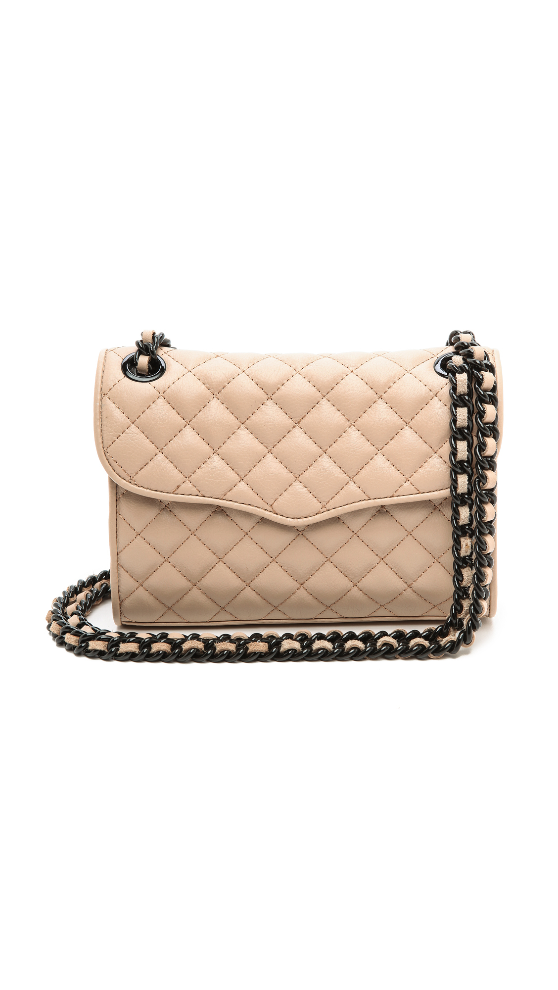 Rebecca Minkoff Quilted Mini Affair Bag Latte In Beige
