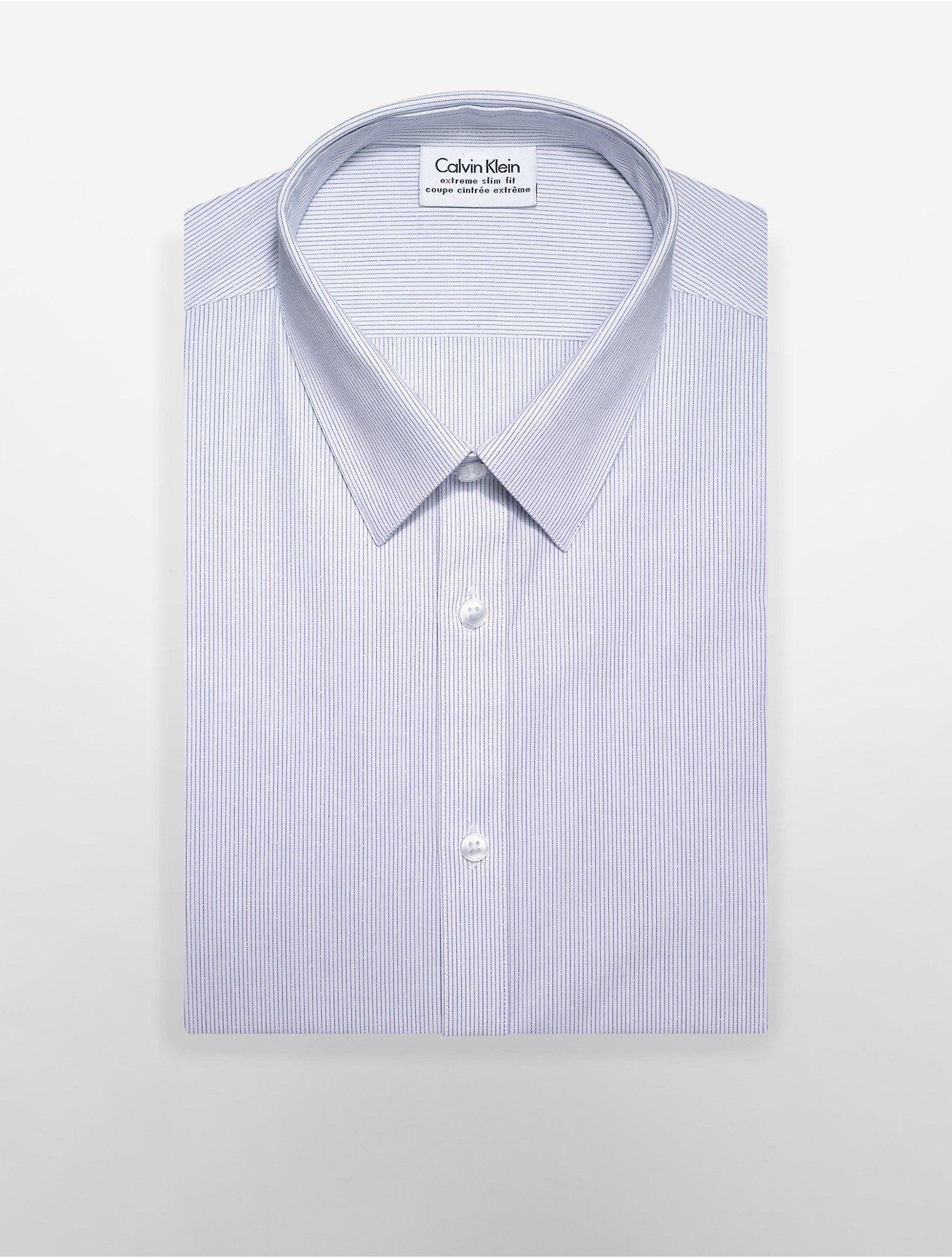 Calvin klein white label x fit ultra slim fit andes blue for Calvin klein x fit dress shirt