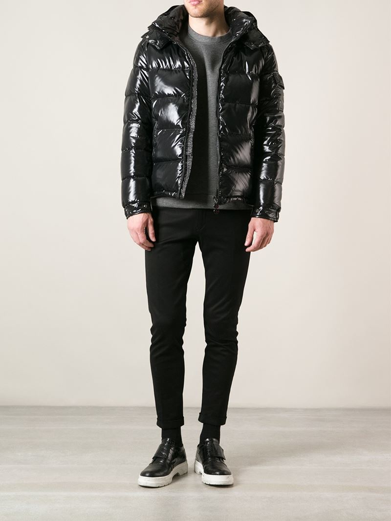 Lyst Moncler Maya Lacquered Jacket In Black For Men