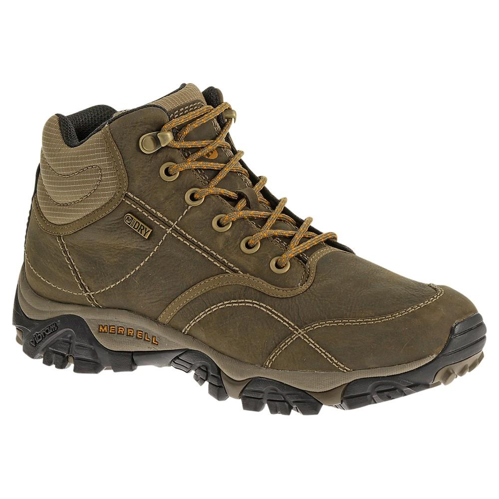merrell moab mid waterproof leather walking shoes in brown