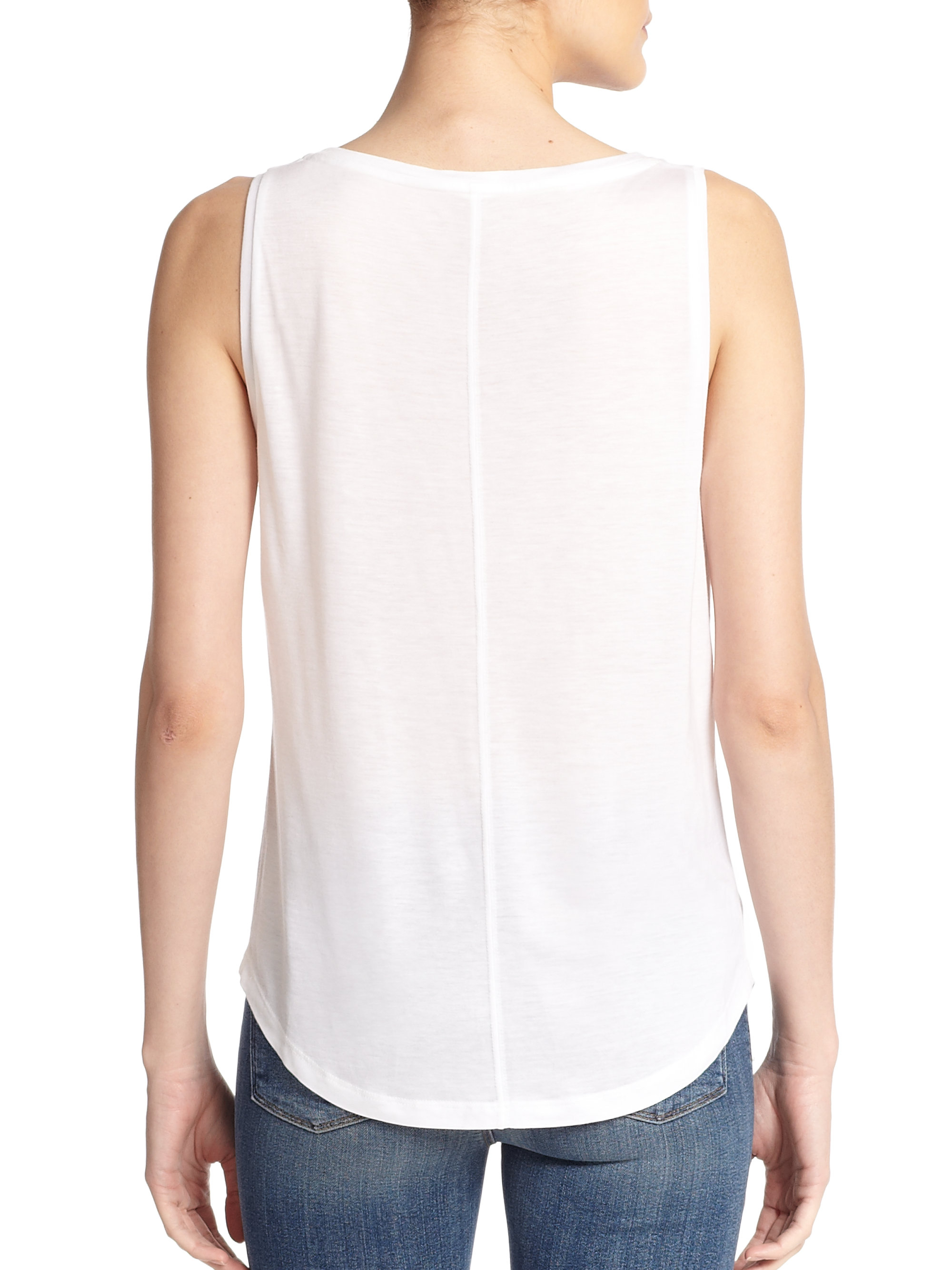 J Brand Sleeveless Scoop Neck Top For Sale The Cheapest Discount Best qPHvKW