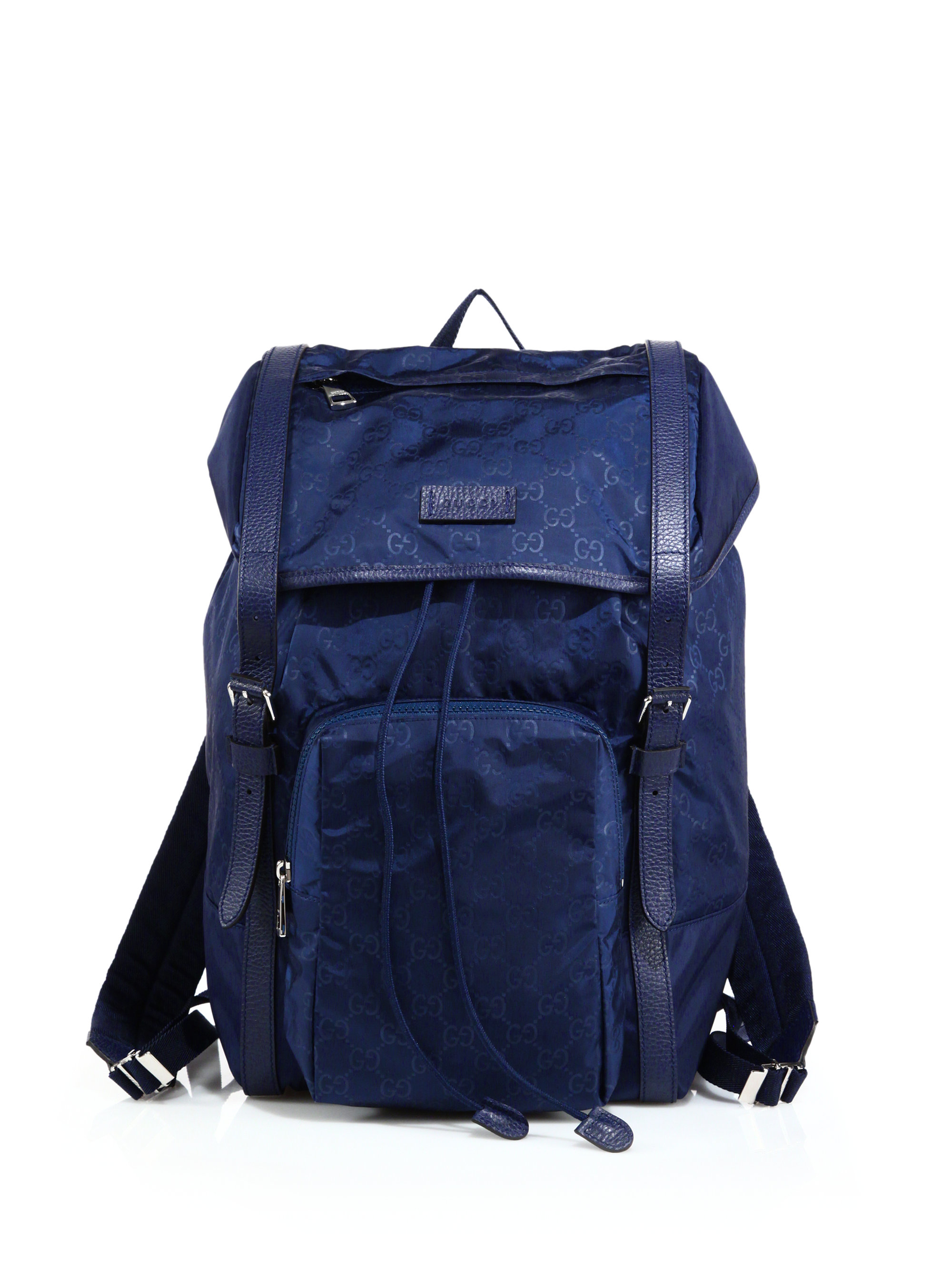 a87302f22db5 Lyst - Gucci Nylon Sima Backpack in Blue