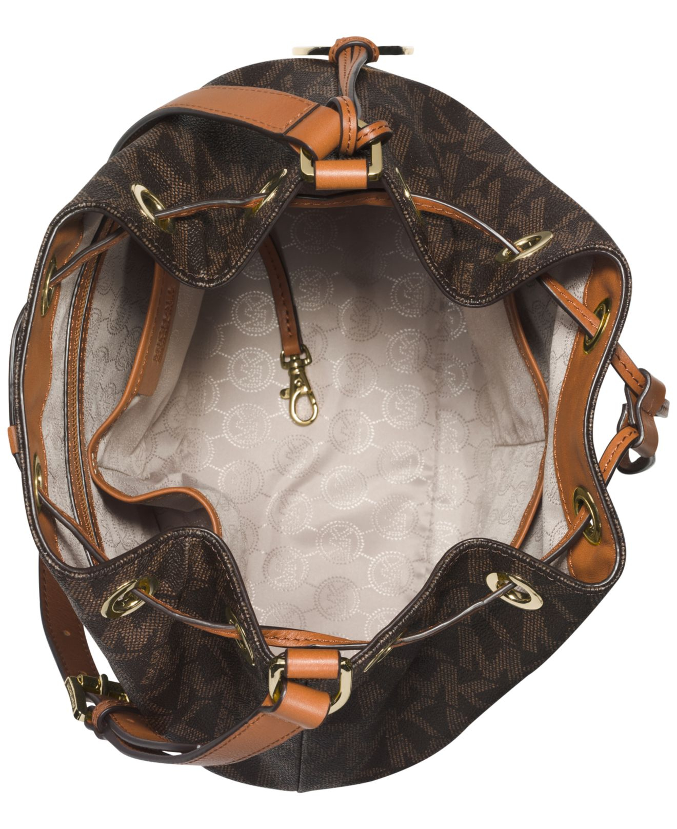 f270f8030e7a8d ... Lyst - Michael Kors Michael Jules Large Drawstring Shoulder Michael  Kors Jules Signature Drawstring Crossbody Bag ...