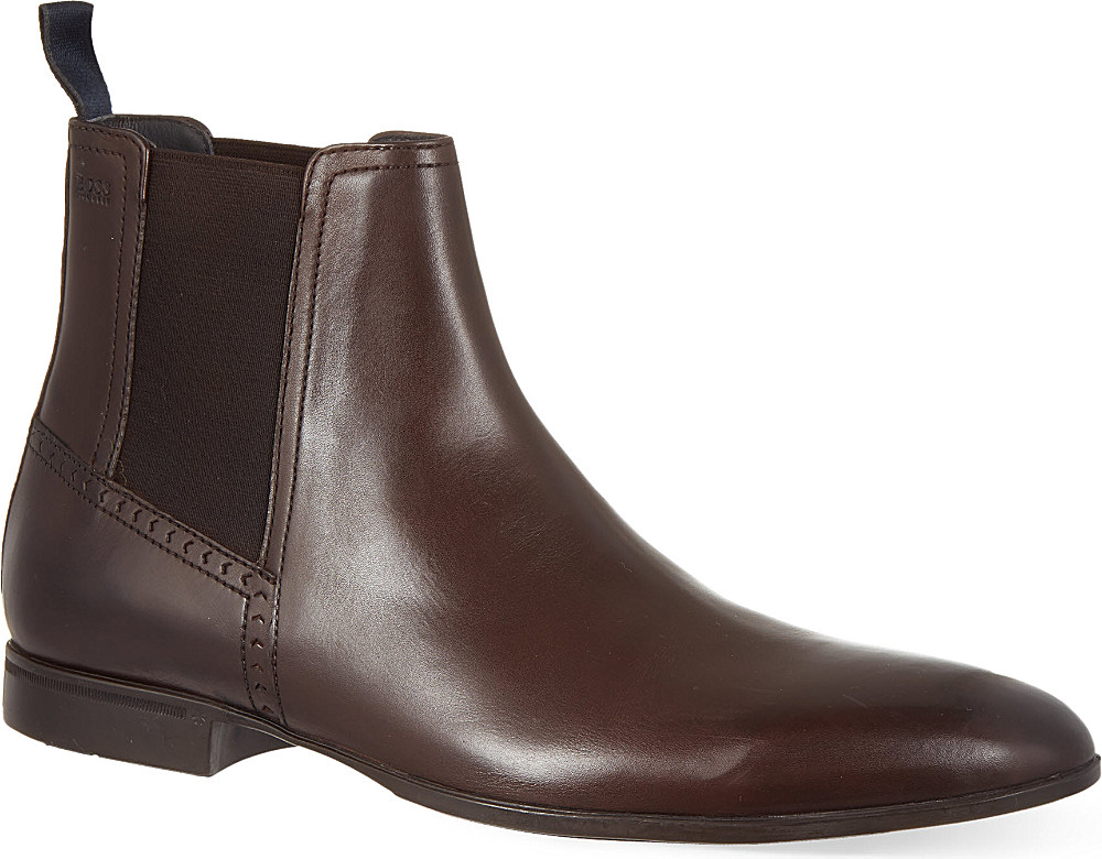 boss nevall chelsea boots in brown for men lyst. Black Bedroom Furniture Sets. Home Design Ideas