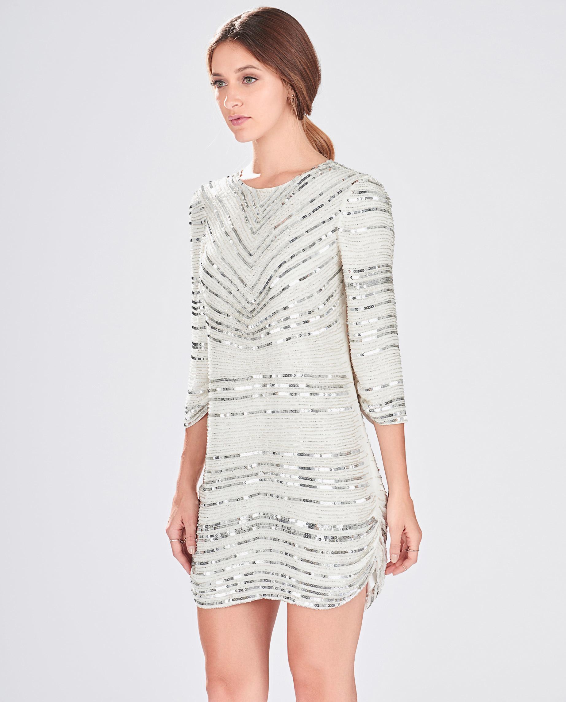 5efebc42 Lyst - Parker Petra Dress in Metallic