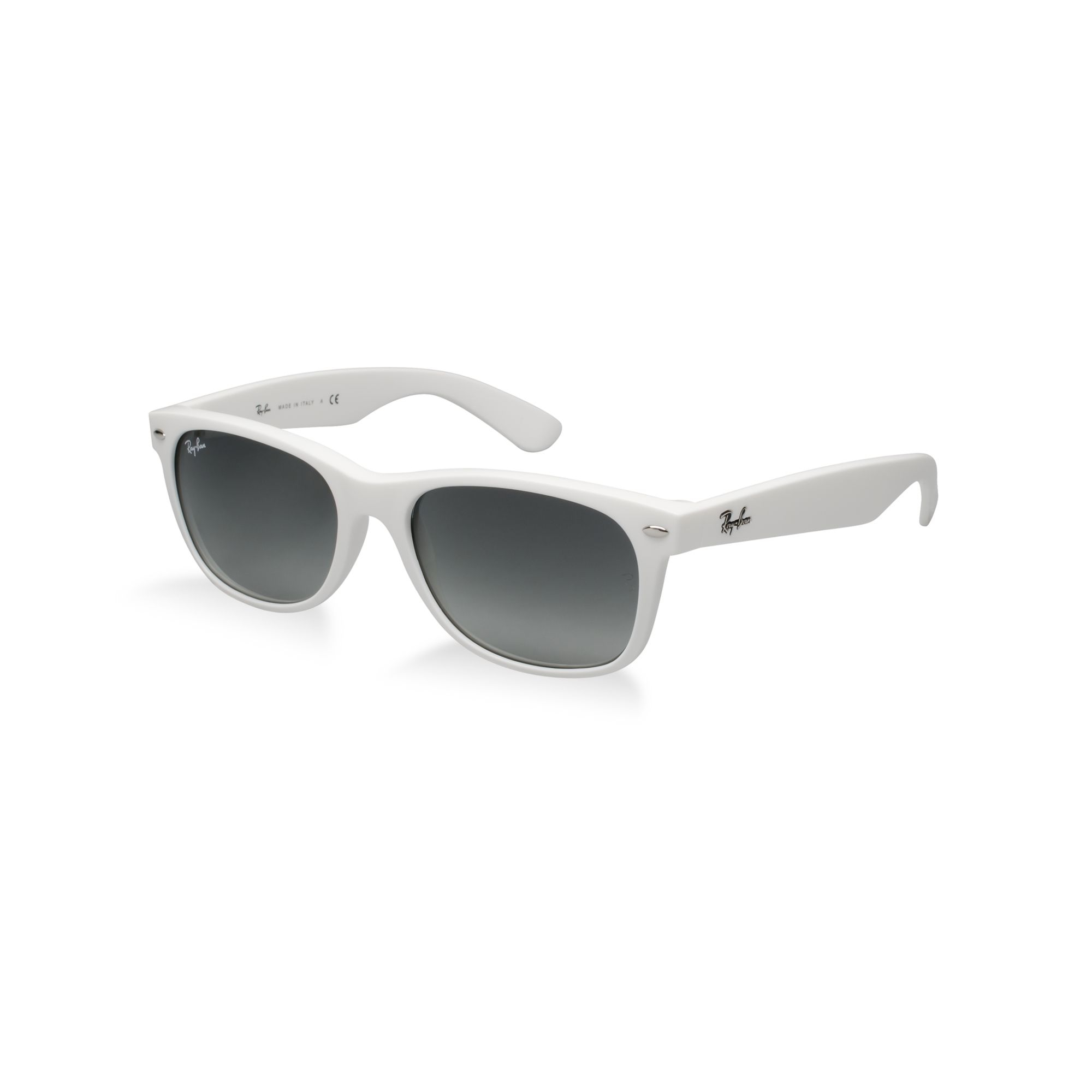 58364d41a8 Lyst - Ray-Ban New Wayfarer Sunglasses with Tapered Temples in White