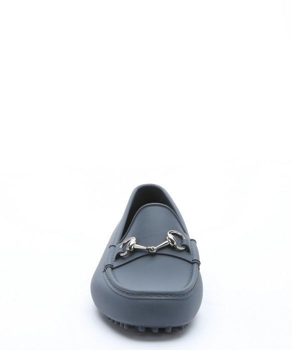 acabcdbc18d ... low priced 17ea2 0e64b Lyst - Gucci Grey Rubber Horsebit Detail Driving  Loafers in ...