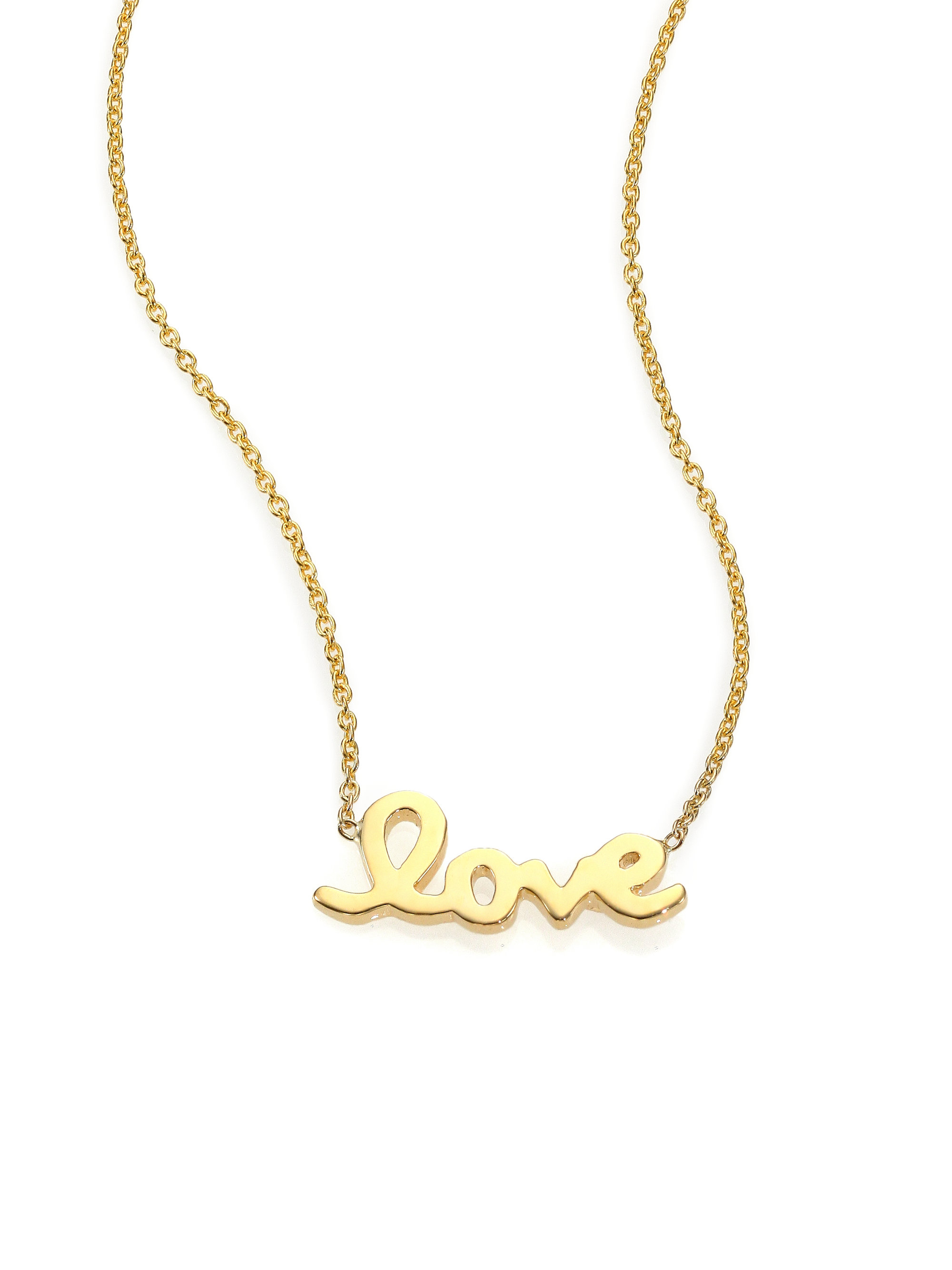 roberto coin tiny treasures 18k yellow gold love letter With roberto coin love letter necklace