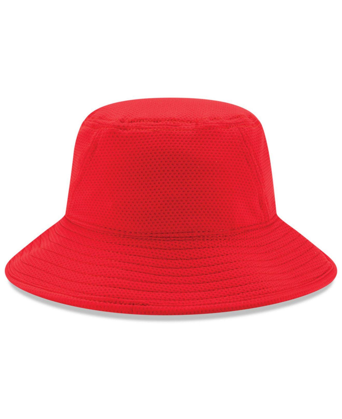 HUF Canvas red bucket hat | Manchester's Premier ...  |Red Bucket Hat