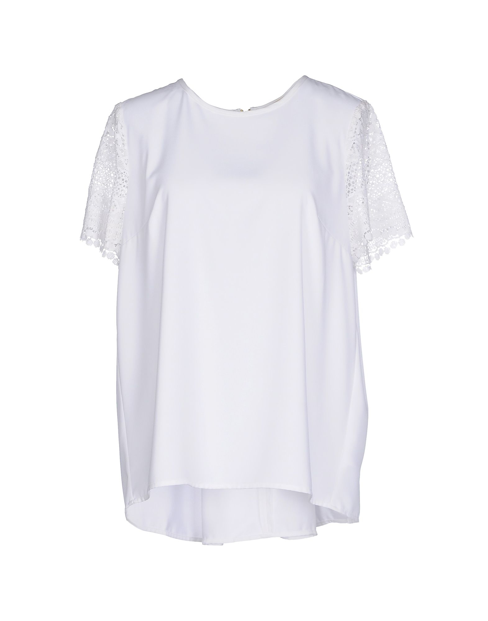 michael michael kors blouse in white lyst. Black Bedroom Furniture Sets. Home Design Ideas