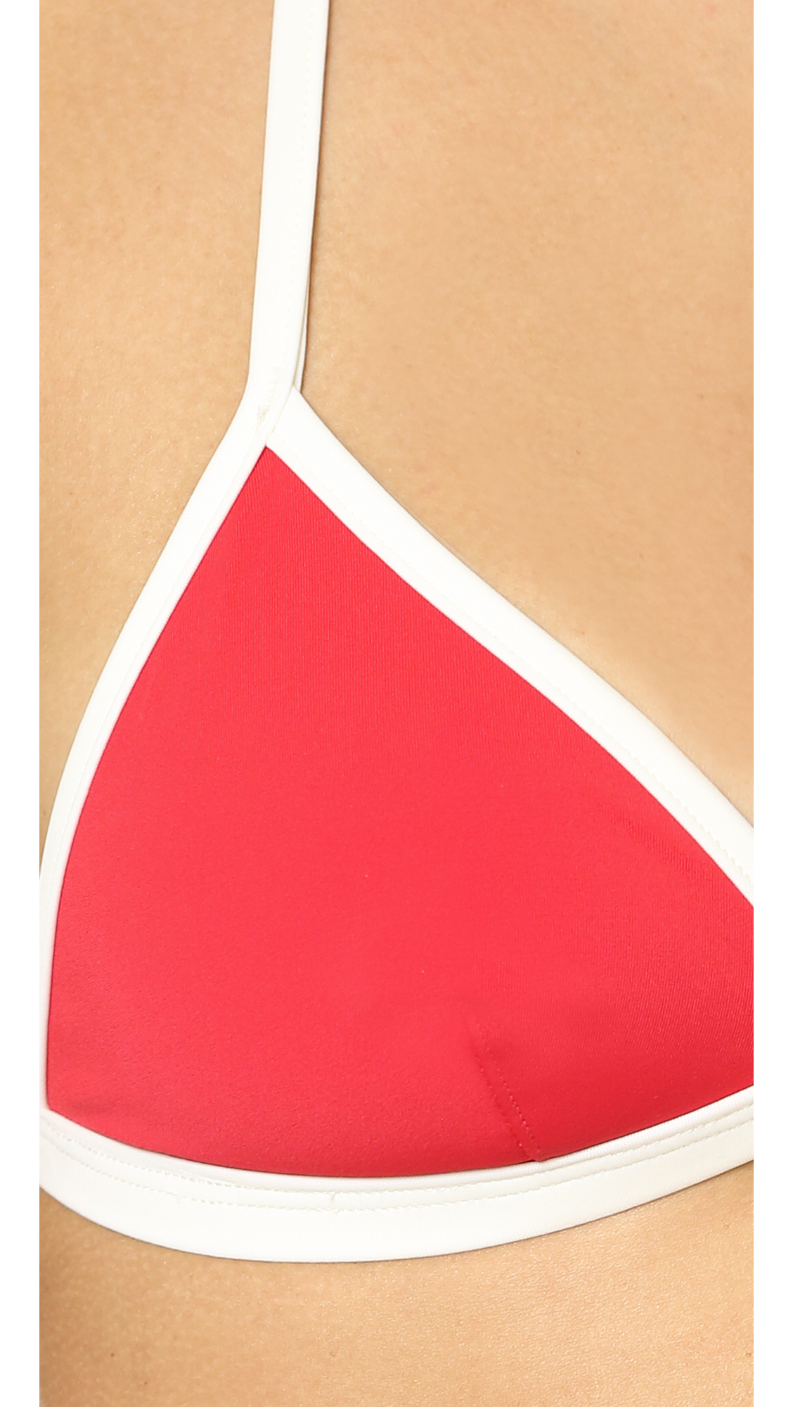 red striped bikini lyst solid striped the miranda bikini top red in red 883