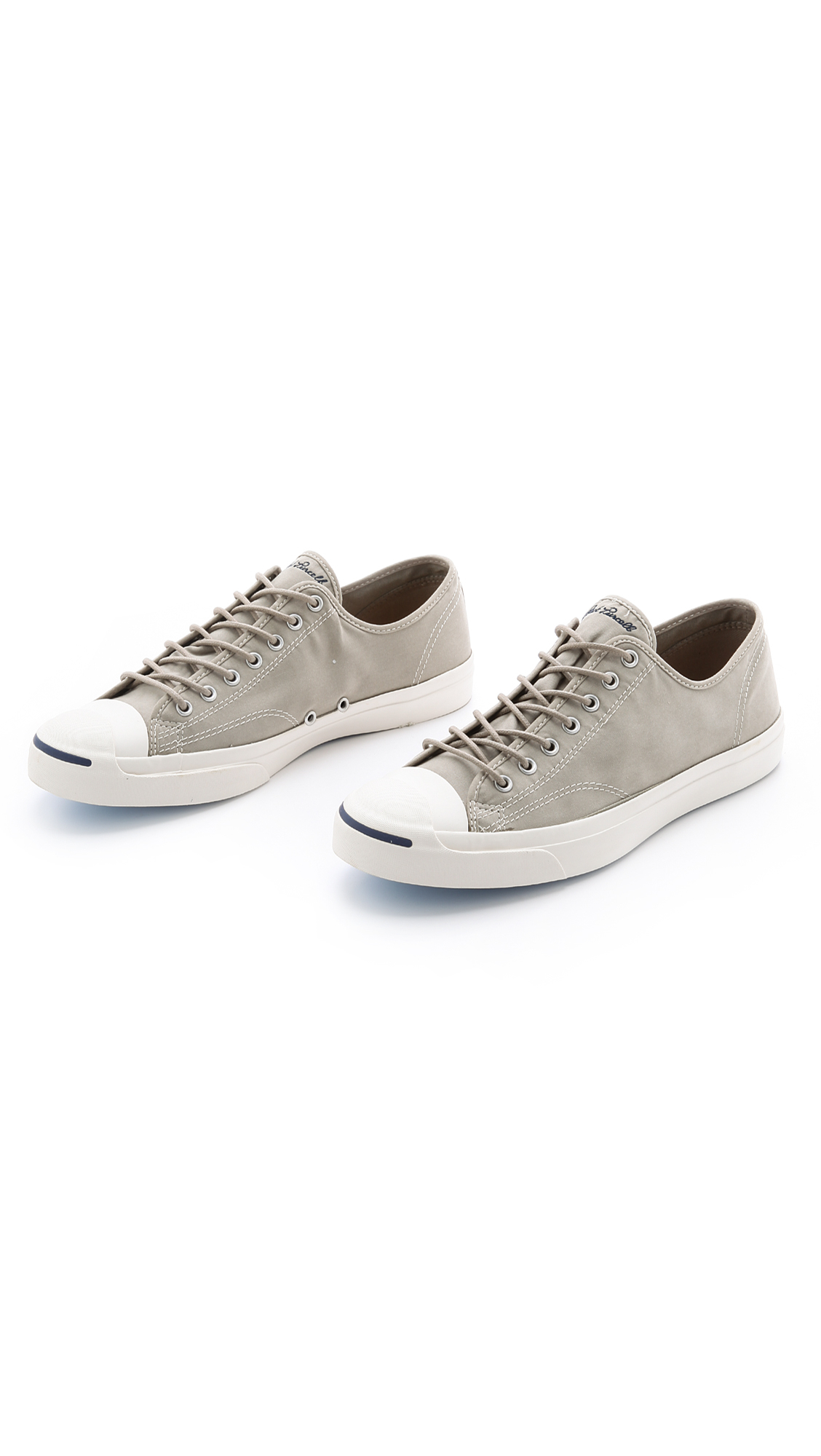 6d59bc816a085d Lyst - Converse Jack Purcell Twill Sneakers in Gray for Men