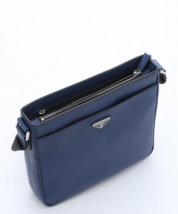 098f720818e1 ... order lyst prada blue saffiano leather messenger bag in blue for men  966e3 b75a8