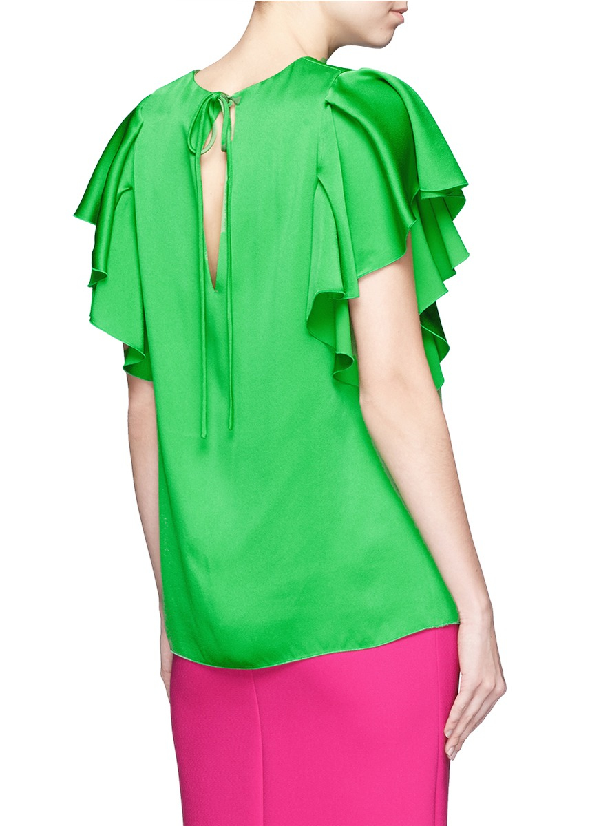 Lanvin ruffled sleeve top Free Shipping Best Clearance Pick A Best Find Great For Sale FInvEcL86h