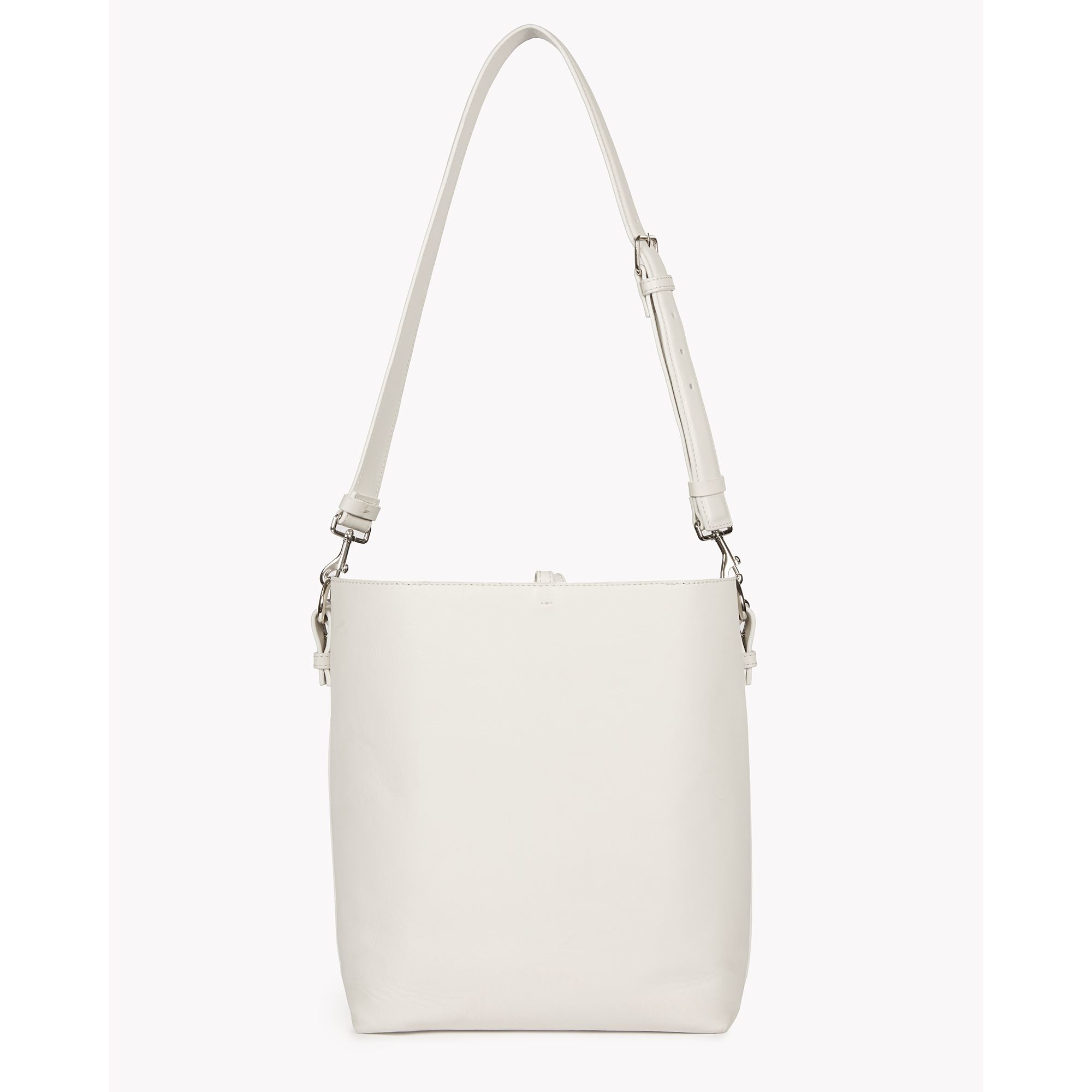 b465d3e42b6 Lyst - Theory Small Bucket Bag In Linden Leather in White