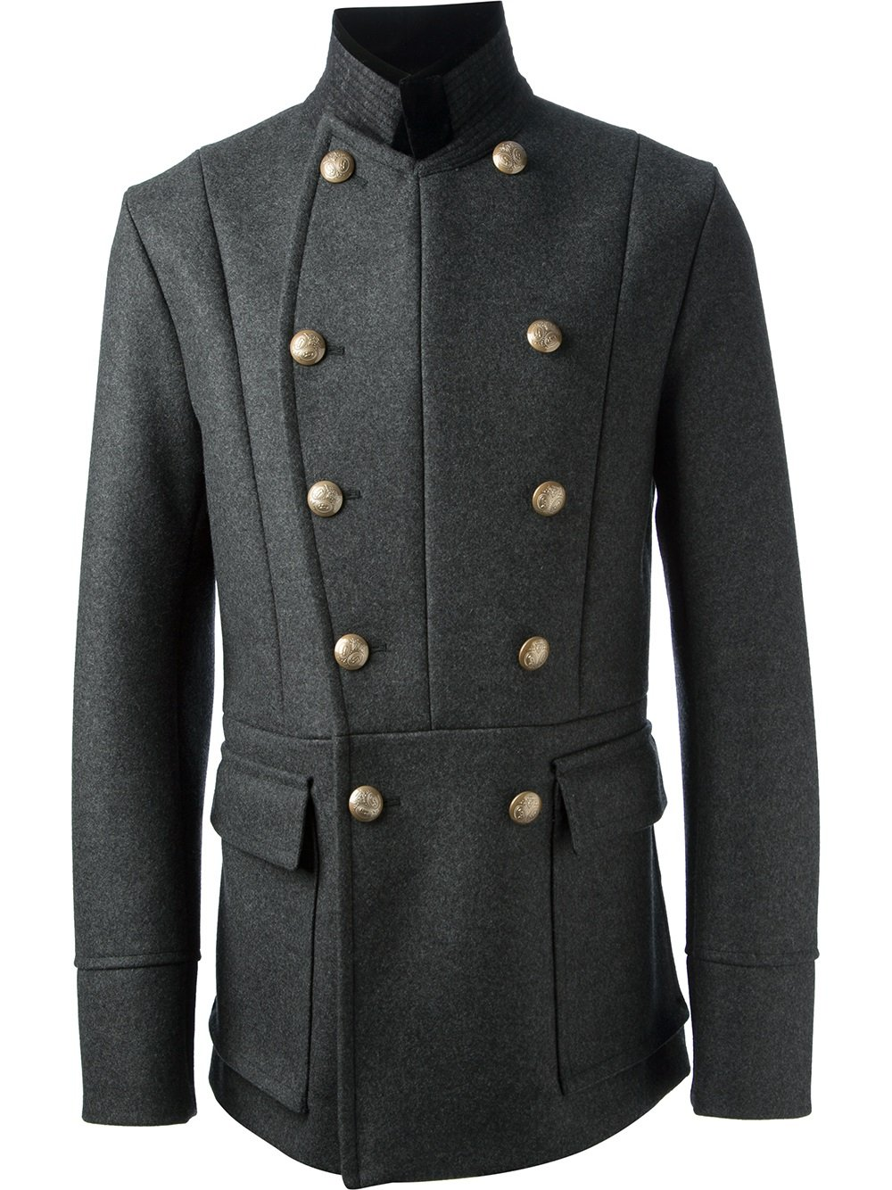 Mens Military Pea Coat | Down Coat