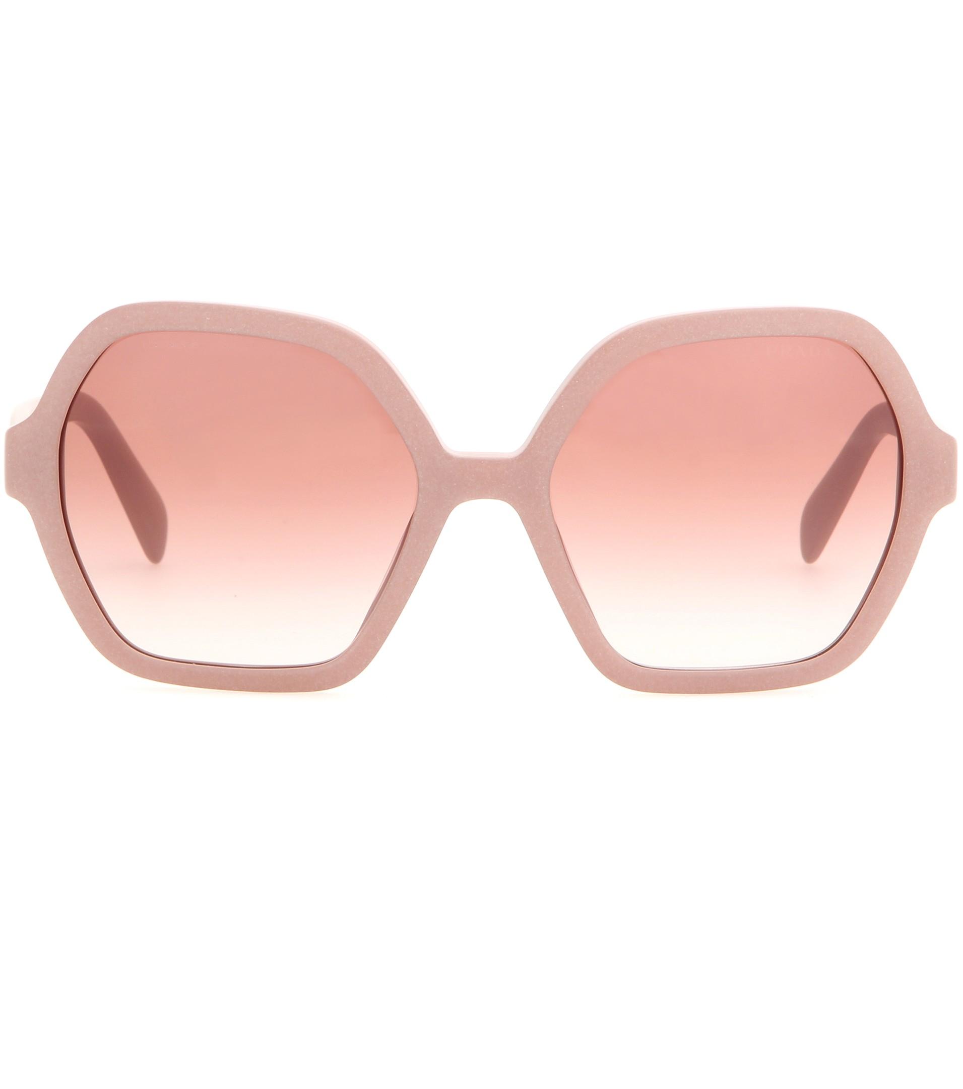 b96fee00cad ... best lyst prada sunglasses in pink a641e 7717b