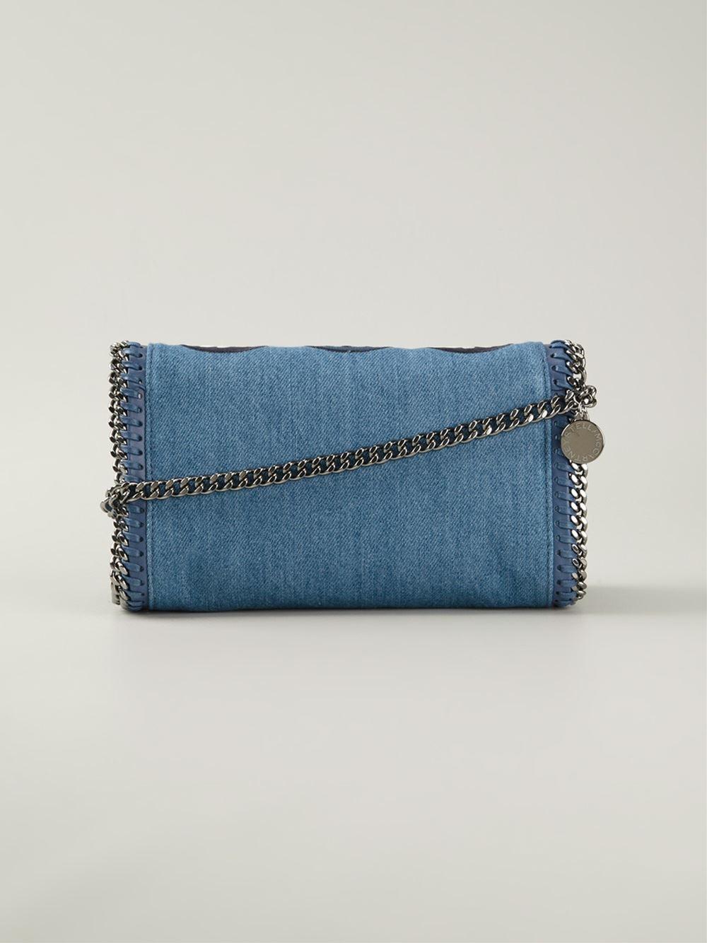 3140fc8a807d Lyst - Stella McCartney  Falabella Zigarette  Crossbody Bag in Blue