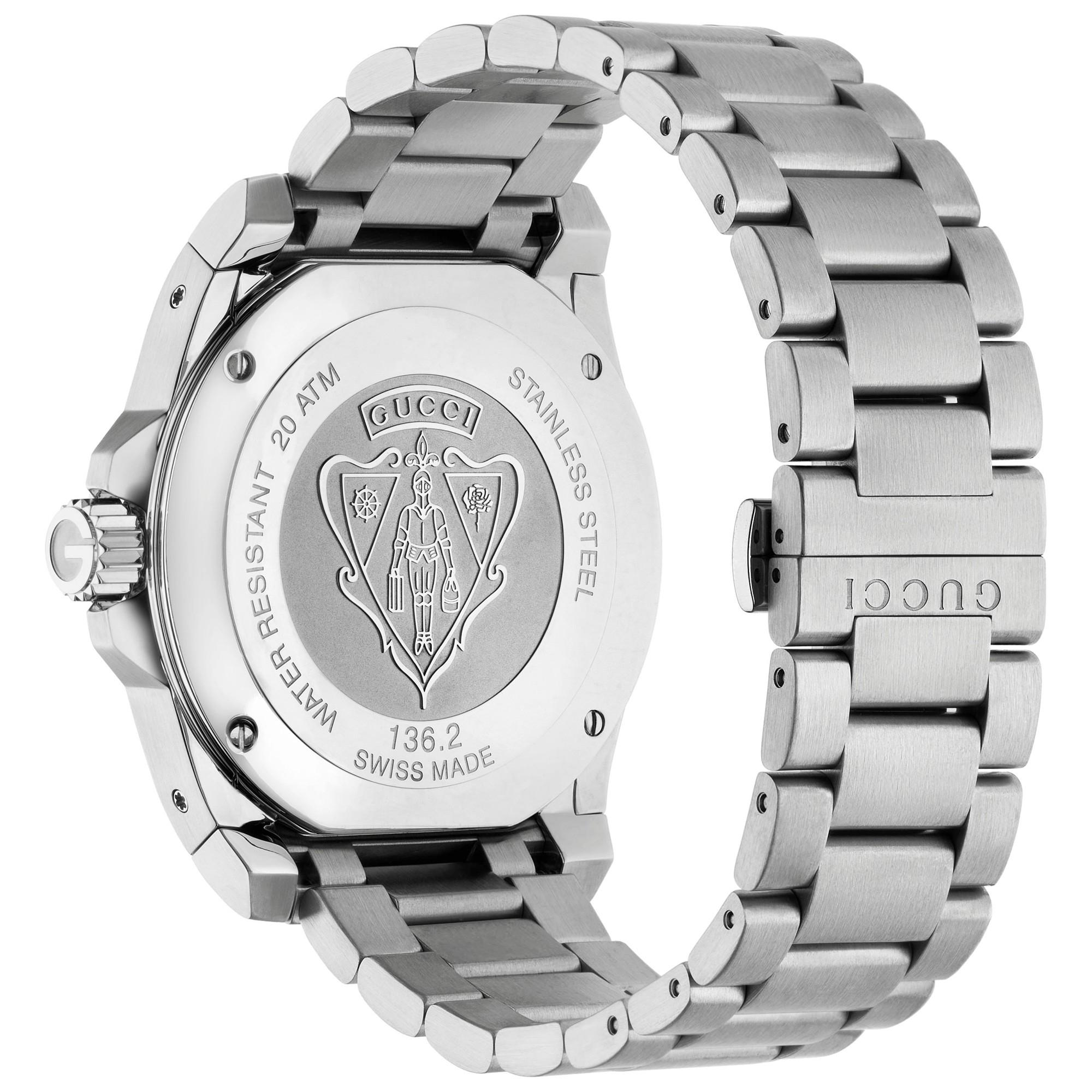 e6338149611 Gucci Ya136203 Men s Dive Stainless Steel Bracelet Strap Watch in Metallic  for Men - Lyst