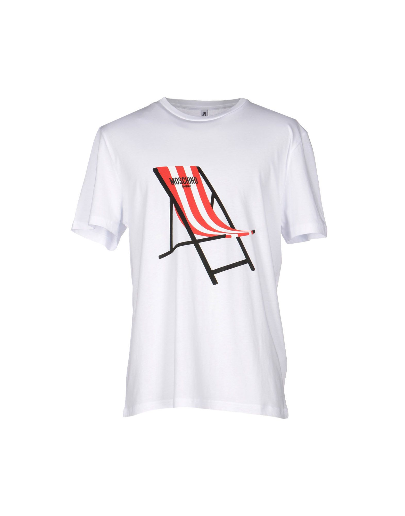 moschino white t shirt for men lyst. Black Bedroom Furniture Sets. Home Design Ideas