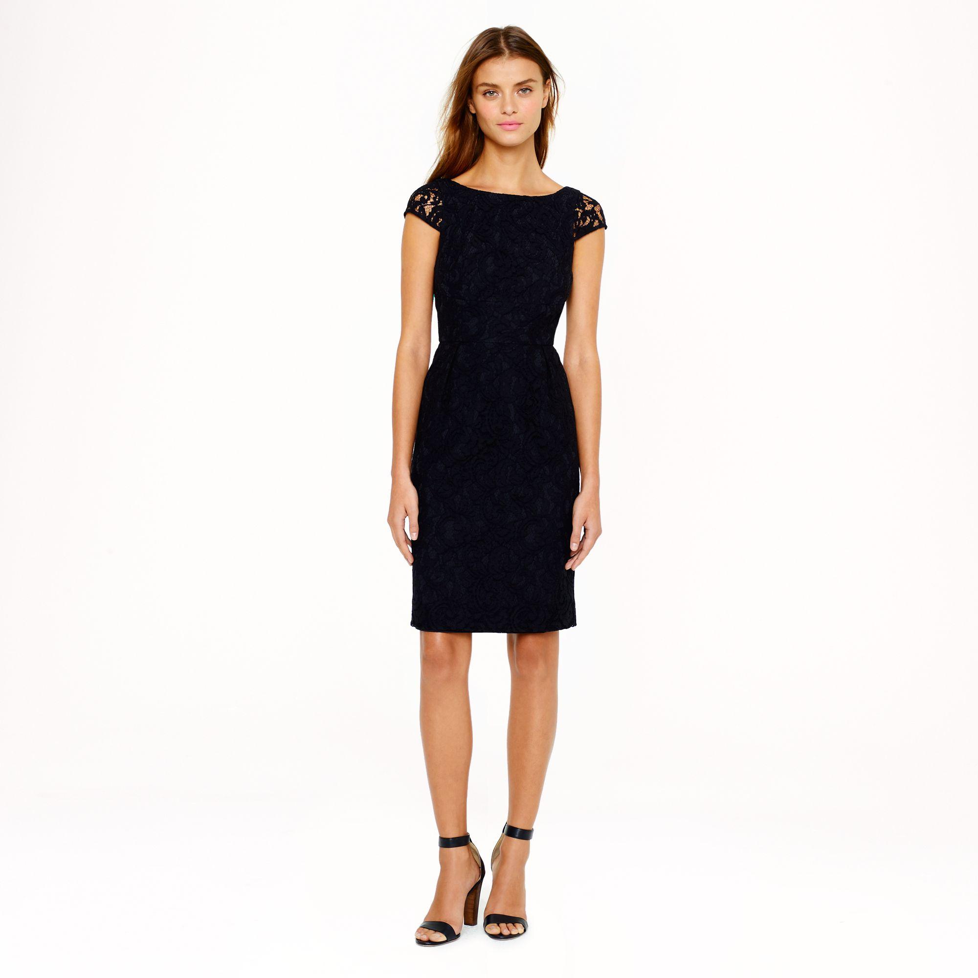 Elsa dress in leavers lace in black lyst for Jcrew com
