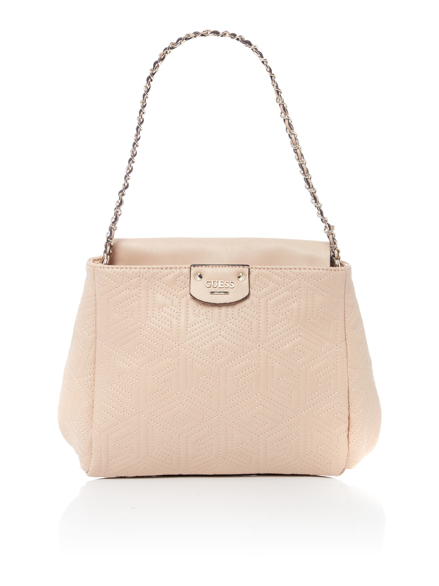 Guess G Cube Quilt Neutral Shoulder Bag | Lyst